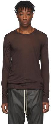 Rick Owens Burgundy Basic Long Sleeve T-Shirt