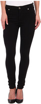 7 For All Mankind The Doubleknit High Waist Skinny in Black