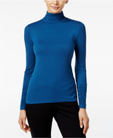 Alfani Petite Ruched Turtleneck Top, Only at Macy's