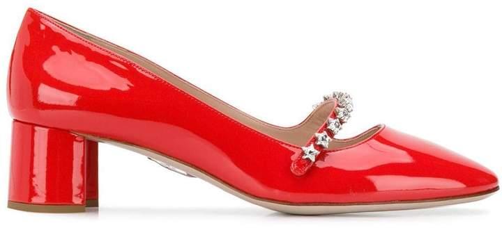 Miu Miu embellished Mary Jane pumps