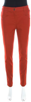 Escada Garnet Red Stretch Denim Teresa Straight Leg Jeans S