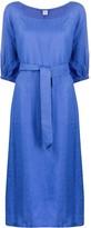 Aspesi 3/4 sleeves tie-waist dress