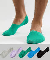 Asos Design Invisible Liner Socks In Muted Colours 5 Pack Save