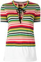 No.21 striped knitted T-shirt - women - Cotton/Polyamide/Polyester/Viscose - 38