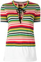 No.21 striped knitted T-shirt - women - Cotton/Polyamide/Polyester/Viscose - 42