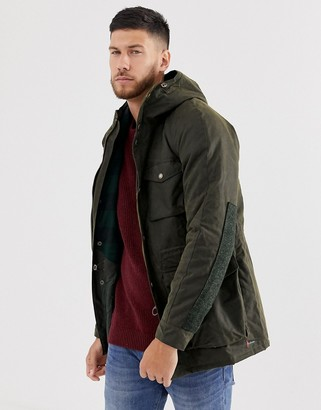 Barbour Coll wax jacket in khaki-Green