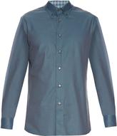 Brioni Micro-checked cotton shirt
