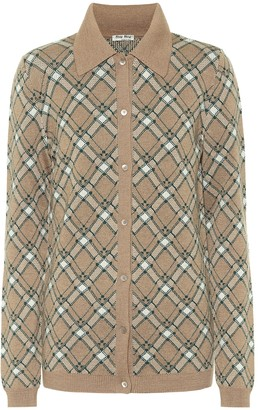Miu Miu Checked wool cardigan