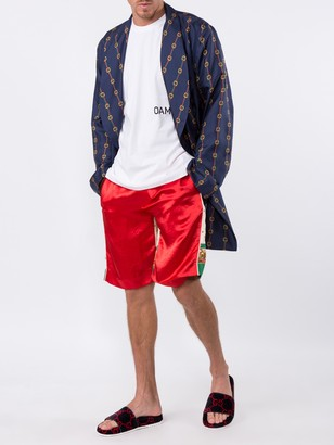 Gucci Double Sided Loose Fit Silk Track Shorts