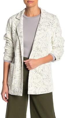 Catherine Malandrino Textured Open Front Blazer (Petite)