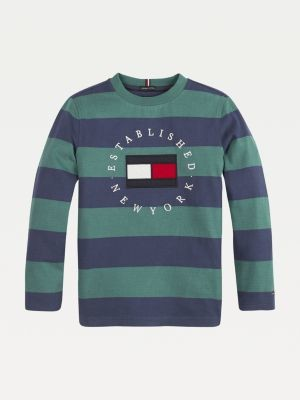 Tommy Hilfiger All-Over Stripe Long Sleeve T-Shirt