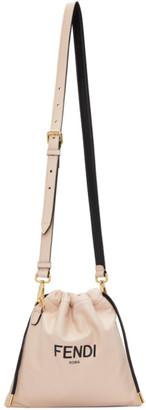 Fendi Pink Drawstring Logo Bag