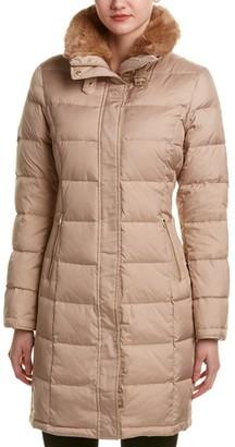 Cole Haan Women's Down Coat with Fur Collar