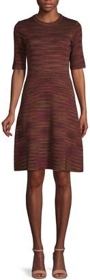 M Missoni Textured Wool-Blend A-Line Dress