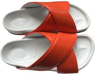 Celine Twist Orange Patent leather Sandals