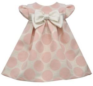 Bonnie Jean Toddler Girls Jacquard Dot Pleated Float Dress