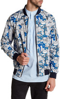 Knowledge Cotton Apparel Waste Printed Reversible Catalina Bomber