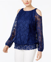 INC International Concepts Cold-Shoulder Lace Peasant Top, Only at Macy's