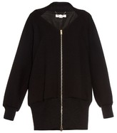Stella McCartney Keren double-faced crepe bomber jacket