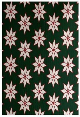 The Holiday Aisleâ® Christmass Flatweave Green Rug The Holiday AisleA Rug Size: Rectangle 2' x 3'