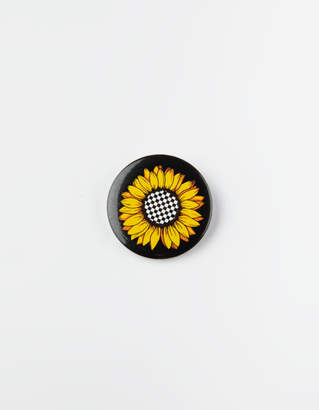 Whatever Co Sunflower Check Pin