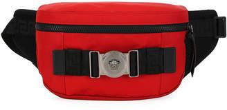 Versace Men's Logo-Medallion Nylon Belt Bag