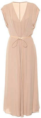 Valentino silk georgette midi dress