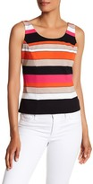 Kasper Sleeveless Colorblock Blouse