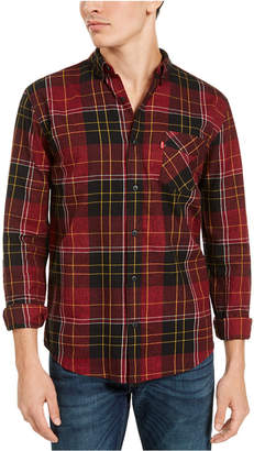 Levi's Men Booth Regular-Fit Plaid Flannel Shirt