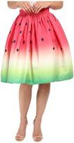 Unique Vintage Novelty Watermelon Flare Skirt
