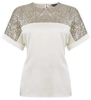 Dorothy Perkins Womens Champagne Batwing Top