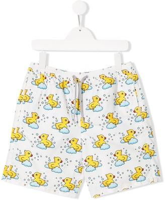 Mc2 Saint Barth Kids TEEN Rubber Duck swim shorts