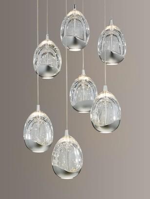 John Lewis & Partners Droplet LED Pendant Ceiling Light, 7 Light, Chrome