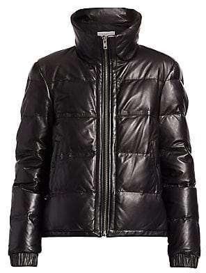 A.L.C. Women's Denver Leather Quilted Puff Jacket