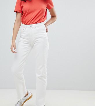 Weekday voyage crop mom jean in loved white