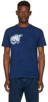 Blue Blue Japan Indigo Tiger Face T-shirt