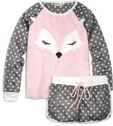 PJ Salvage Girls' Polar Fleece Fox Top & Shorts Set - Sizes 4-6
