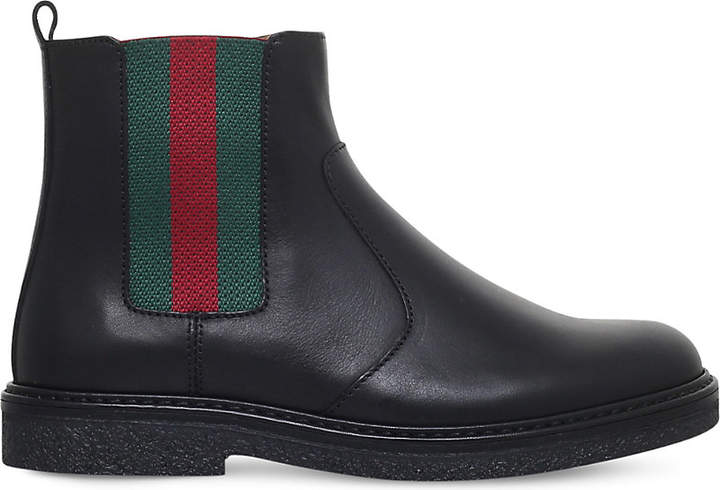 Gucci Joshua leather chelsea boots 4-8 years