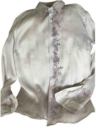 Ermanno Scervino Purple Silk Top for Women