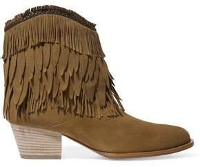 Aquazzura Pocahontas Fringed Suede Ankle Boots