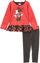 Children's Apparel Network Minnie Mouse Red Tunic & Black Leggings - Infant, Toddler & Girls