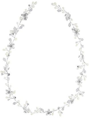 Jon Richard Jewellery Silver Crystal And Pearl Hair Vine