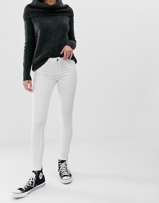 Only Kendell white skinny jeans