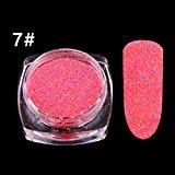 Voberry 1box Nail Glitter Powder Mixed Candy Sugar 3D Nail Art Manicure Decoration Tips (G)