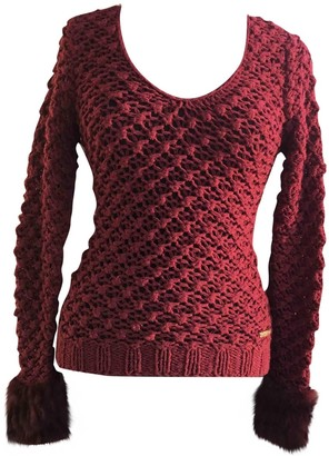 Versace Burgundy Cotton Knitwear for Women