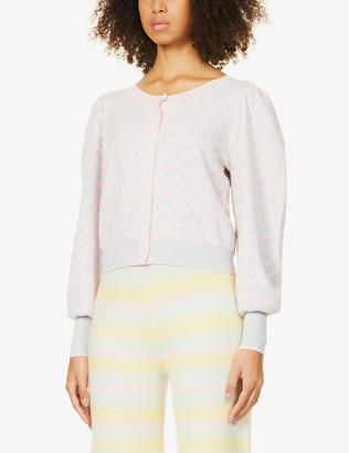 LoveShackFancy Larsen floral-print cotton-blend cardigan