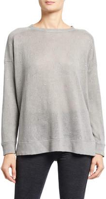 Brunello Cucinelli Linen-Silk Paillette Sweater