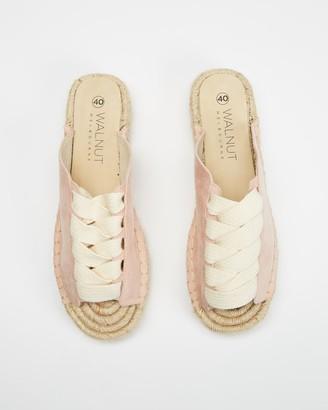 Walnut Melbourne Women's Pink Flat Sandals - Mimi Espadrille Slides - Size 39 at The Iconic