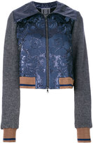 Aviu floral and rib detailed bomber jacket