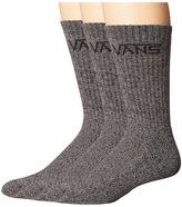 Vans Classic Crew 3-Pair Pack Men's Crew Cut Socks Shoes